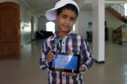 Donating tablets in Yemen